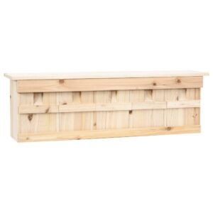Casa para pardais com 5 divisões 68x15x21 cm madeira de abeto - PORTES GRÁTIS