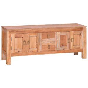 Móvel de TV 110x30x45 cm madeira de mogno maciça  - PORTES GRÁTIS