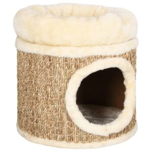 Ninho para gatos c/ almofadão luxuoso 33 cm ervas marinhas  - PORTES GRÁTIS