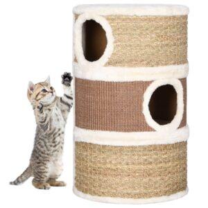 Barril arranhador para gatos 60 cm erva marinha - PORTES GRÁTIS