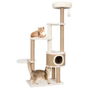 Árvore para gatos c/ postes e almofadão 148 cm erva marinha - PORTES GRÁTIS