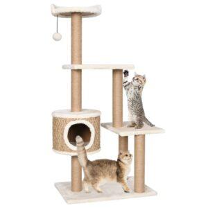 Árvore para gatos c/ postes arranhadores 123 cm erva marinha - PORTES GRÁTIS