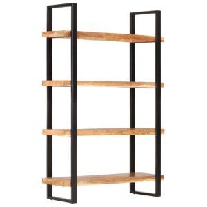 Estante c/ 4 prateleiras 120x40x180cm madeira de acácia maciça - PORTES GRÁTIS
