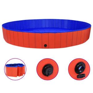 Piscina para cães dobrável 300x40 cm PVC vermelho - PORTES GRÁTIS