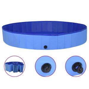 Piscina para cães dobrável 200x30 cm PVC azul - PORTES GRÁTIS