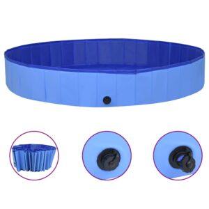 Piscina para cães dobrável 300x40 cm PVC azul - PORTES GRÁTIS