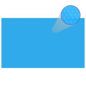 90675 Cobertura retangular para piscina 500x300 cm PE azul - PORTES GRÁTIS