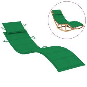 Almofadão para espreguiçadeira 186x58x4 cm verde - PORTES GRÁTIS