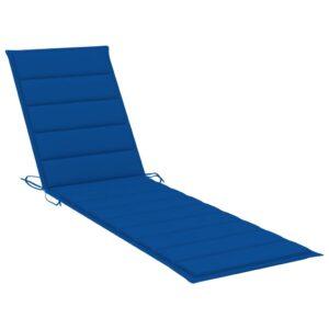 Almofadão p/ espreguiçadeira 200x50x4 cm tecido azul real - PORTES GRÁTIS