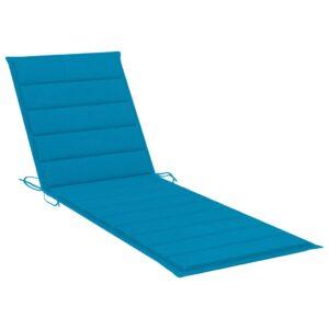Almofadão para espreguiçadeira 200x70x4 cm tecido azul - PORTES GRÁTIS