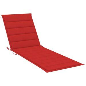 Almofadão para espreguiçadeira 200x70x4 cm tecido vermelho - PORTES GRÁTIS