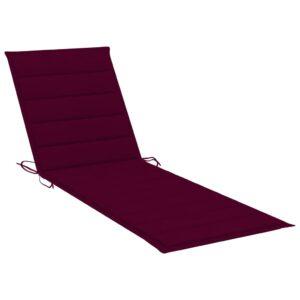 Almofadão p/ espreguiçadeira 200x70x4 cm tecido vermelho tinto - PORTES GRÁTIS