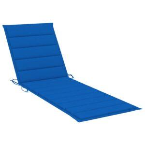 Almofadão para espreguiçadeira 200x70x4 cm tecido azul real - PORTES GRÁTIS