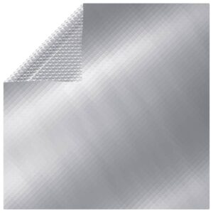 Cobertura para piscina 549x274 cm PE prateado - PORTES GRÁTIS