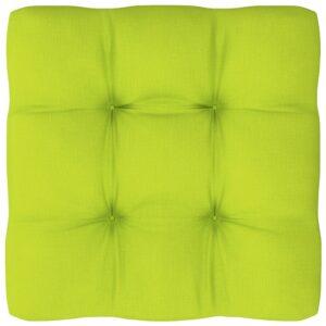 Almofadão para sofá de paletes 60x60x12 cm verde-claro - PORTES GRÁTIS