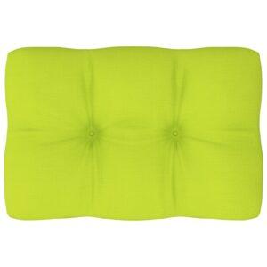 Almofadão para sofá de paletes 60x40x12 cm verde-claro - PORTES GRÁTIS