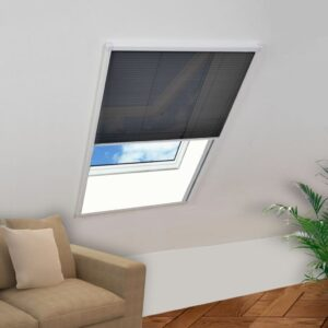 Tela anti-insetos plissada para janelas alumínio 100x160 cm - PORTES GRÁTIS