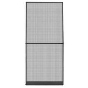 Tela anti-insetos articulada para portas 100x215 cm antracite - PORTES GRÁTIS