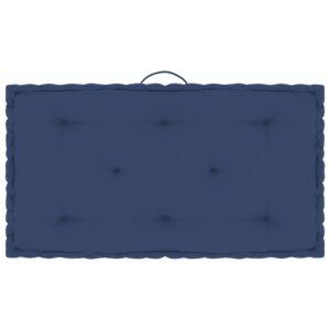 Almofadão móveis paletes 73x40x7cm algodão azul-marinho claro - PORTES GRÁTIS