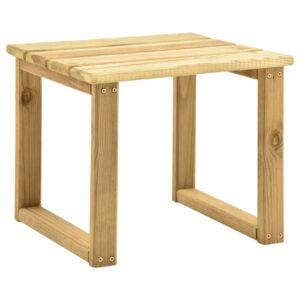 Mesa de espreguiçadeira 30x30x26 cm madeira de pinho impregnada - PORTES GRÁTIS