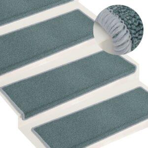 Tapete/carpete para degraus 15 pcs 65x25 cm azul - PORTES GRÁTIS