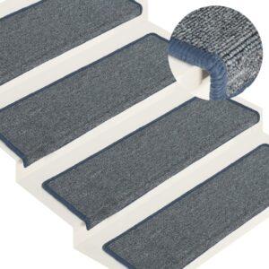 Tapete/carpete para degraus 15 pcs 65x25 cm roxo e azul - PORTES GRÁTIS
