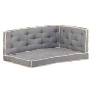 3 pcs conjunto almofadões para sofá de paletes antracite - PORTES GRÁTIS