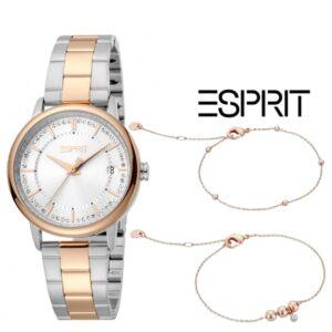 Esprit® Conjunto Relógio +  2 Pulseiras ES1L181M2095