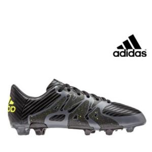 Adidas® Chuteiras X 15.3 FG/AG Black/Green | Tamanho 40.5