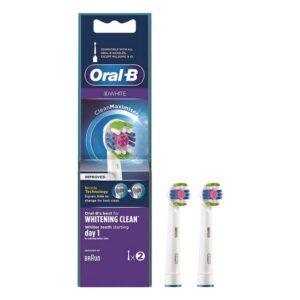 Cabeça de Substituição 3D White Whitening Clean Oral-B (2 pcs)