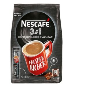 10 Unidades Café com Leite e Açúcar Nescafé Meia de leite