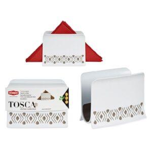 Porta-guardanapos Tosca Bege Plástico