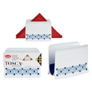 Porta-guardanapos Tosca Azul Plástico