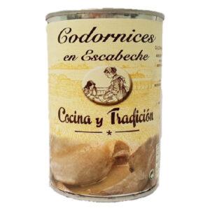 PACK 2 Codorniz Marinada Cocina y Tradición ( 2 X 390 g ).