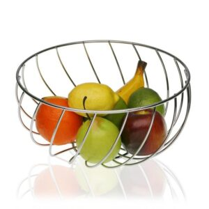 Fruteira Metal Cromado (28 x 14 x 28 cm)