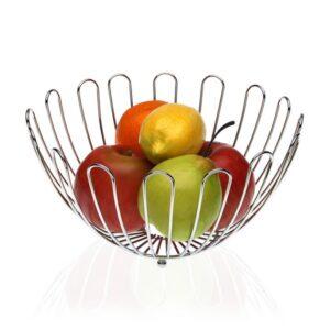 Fruteira Metal Cromado (26 x 14 x 26 cm)
