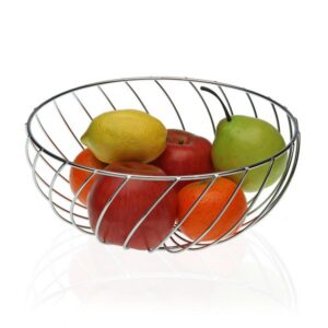 Fruteira Metal Cromado (26 x 12 x 26 cm)