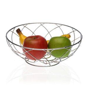 Fruteira Metal Cromado (26 x 9,5 x 26 cm)