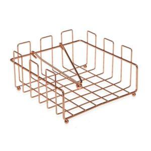 Porta-guardanapos Cobre Metal (18 x 9 x 18 cm)