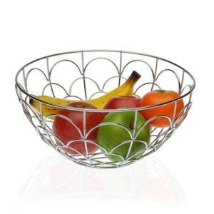 Fruteira Metal Cromado (28 x 13 x 28 cm)