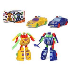 Carro robot (2 uds) Amarelo Azul 112659 (2 Uds)
