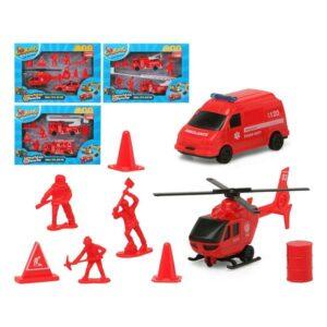 Playset de Veículos Vermelho 119350