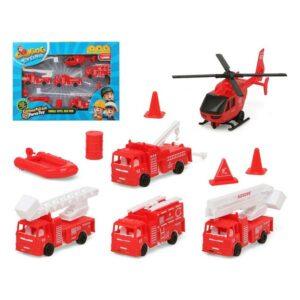 Playset de Veículos Bombeiro Vermelho 119411