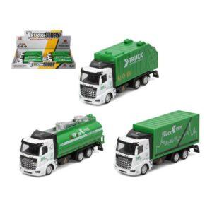Camião de Lixo Verde