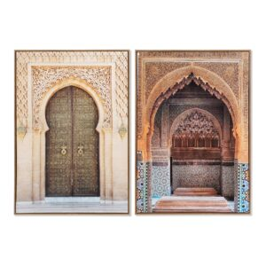 2 Pinturas DKD Home Decor Portas Árabe 62 x 4 x 92 cm