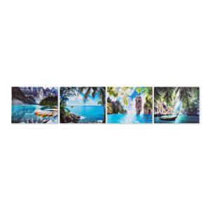 4 Pinturas DKD Home Decor Paisagem Bali 50 x 1.8 x 40 cm