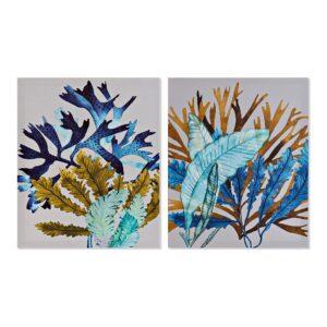 2 Pinturas DKD Home Decor Mediterrâneo 40 x 1.8 x 50 cm