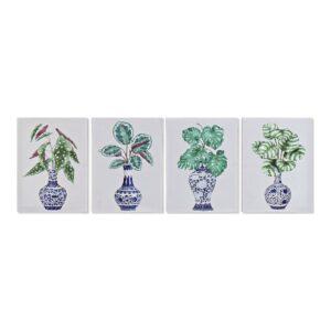 4 Pinturas DKD Home Decor Vaso Oriental 30 x 1.8 x 40 cm