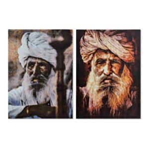 2 Pinturas DKD Home Decor Índio 50 x 1.8 x 70 cm