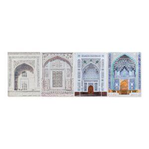 4 Pintura DKD Home Decor Árabe 50 x 1.8 x 70 cm